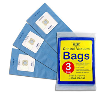 Genuine VALET Blue Vacuum Bags 3 pack